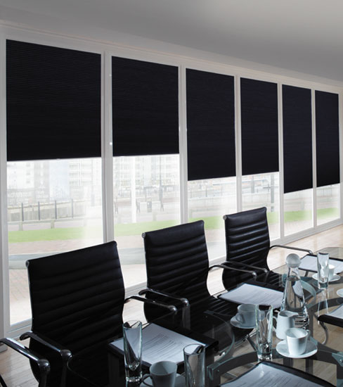Commercial Blinds Black