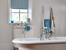 Aqua Peal Duck Egg Roller Bathroom Blinds
