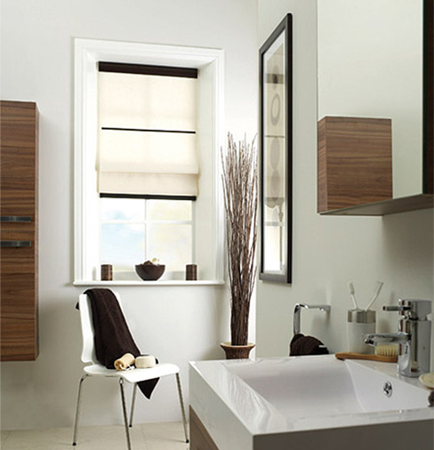 Roman Blind Bathroom