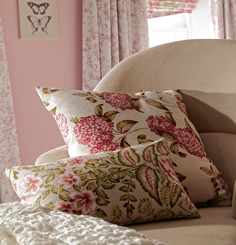 delany rose penrose raspberry roman blinds