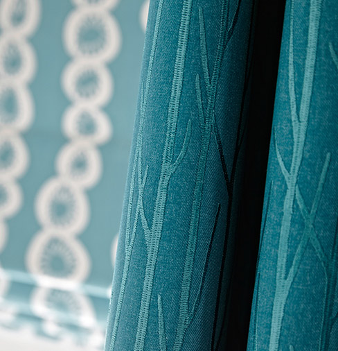 enchant teal juste cobalt2 curtains