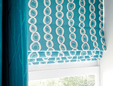 enchant teal juste cobalt roman blinds