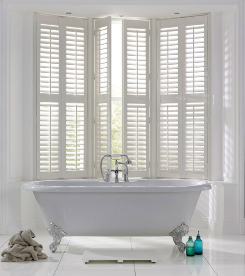 Shutters and blinds 2017 grasscloth wallpaper for Blinds bathroom window