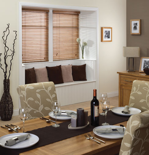 Wooden Blind Dining Room