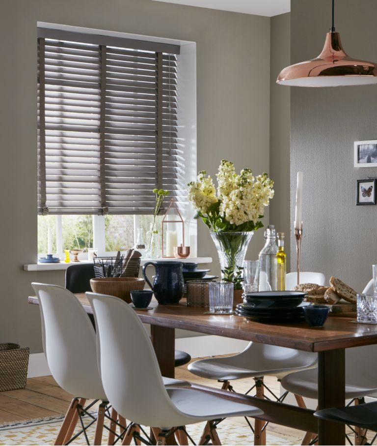 Brown venetian blind
