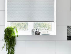 Napia pewter roller blind