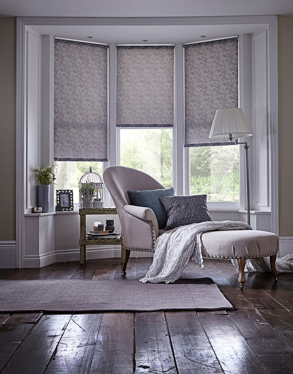 Cloudy Delphinium Roller Living Blinds