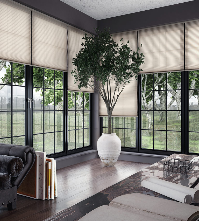 Conservatory blinds ivory