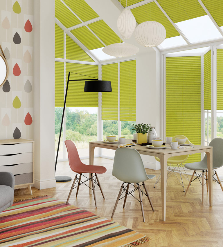 Conservatory blinds lime