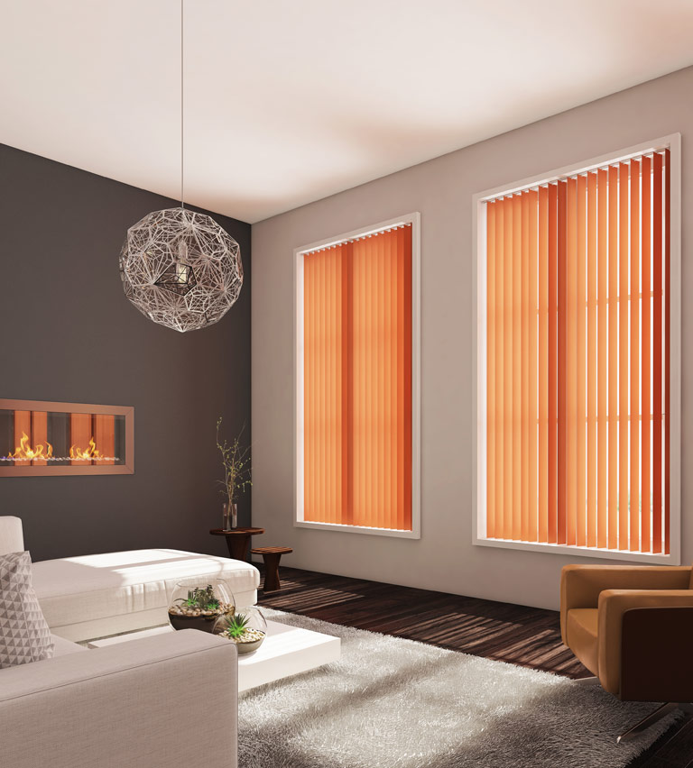 Vertical blinds orange