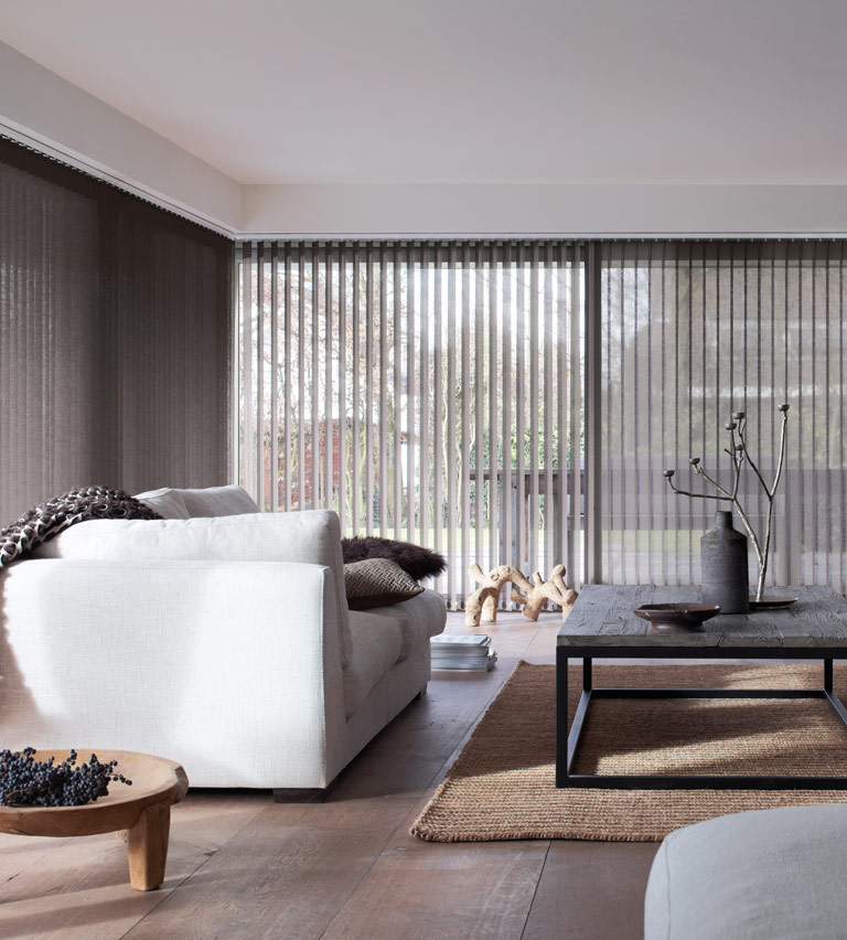 Vertical blinds taupe