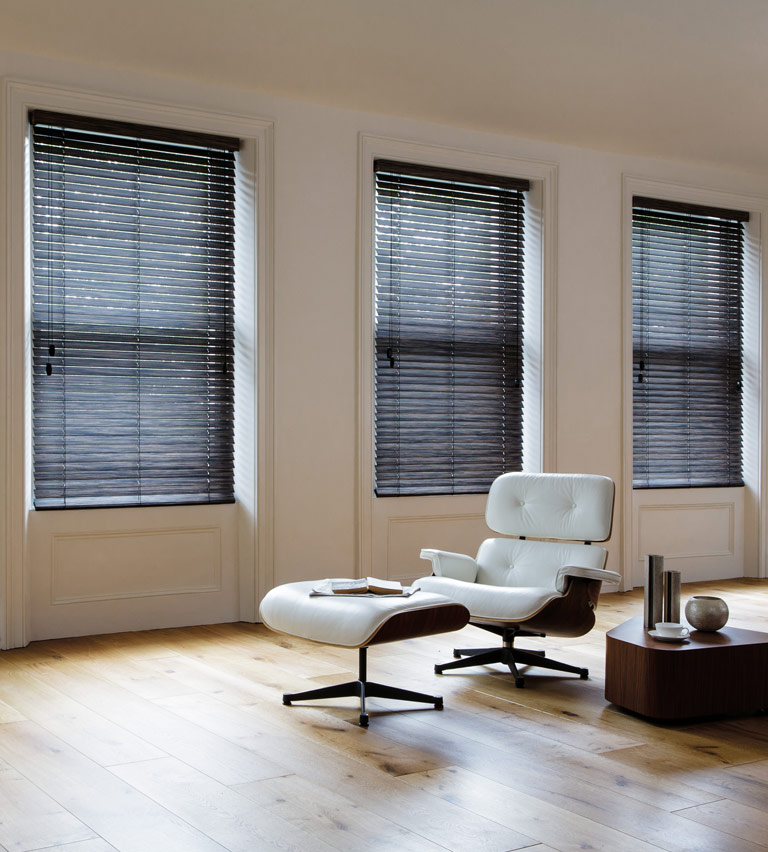 Wooden blinds zebrano