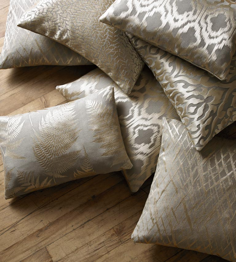 Cushions - pewter