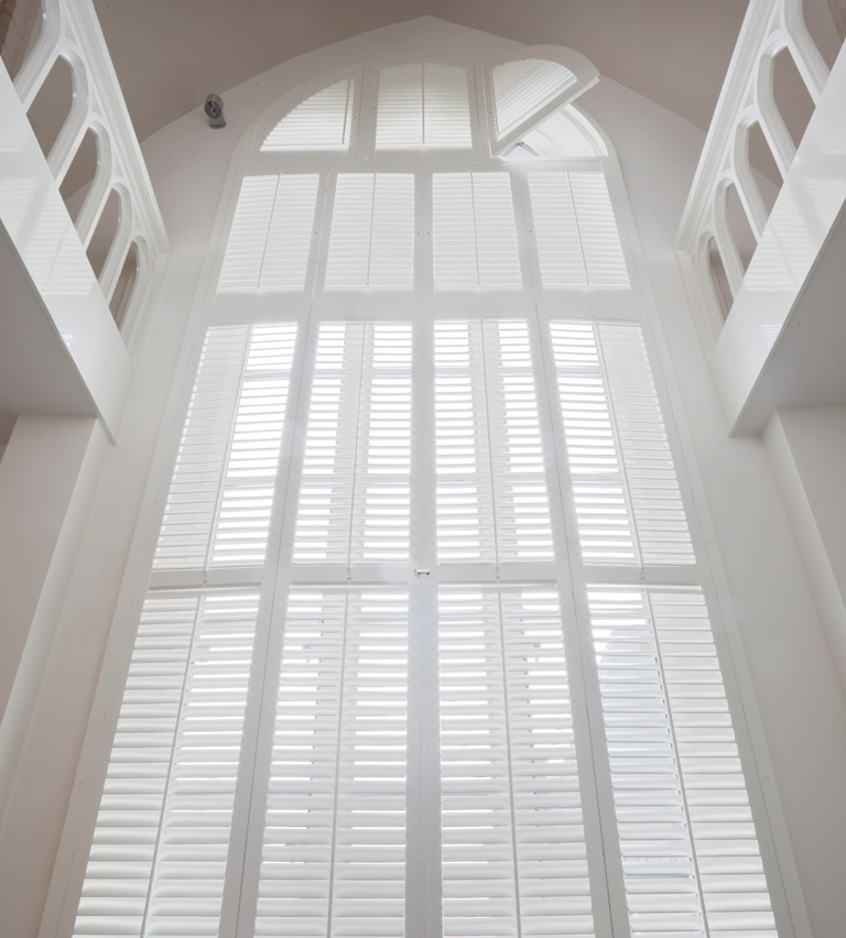 Special shapes shutters white