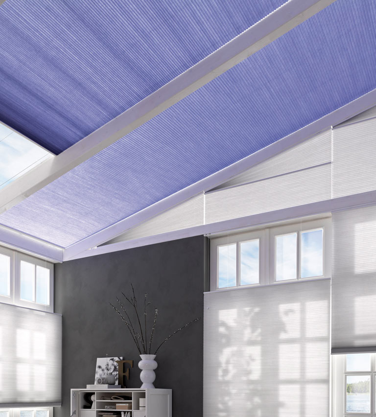 Velux purple blinds