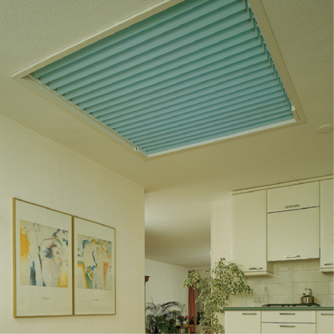 Duette roof light blind
