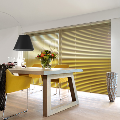 Yellow venetian blind