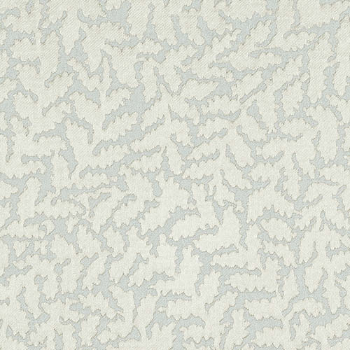 White leaf pattern blind fabric
